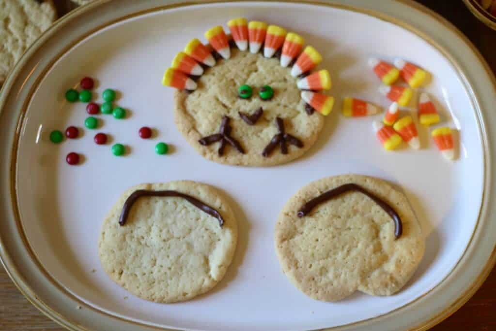 cookies, decorating, Thanksgiving