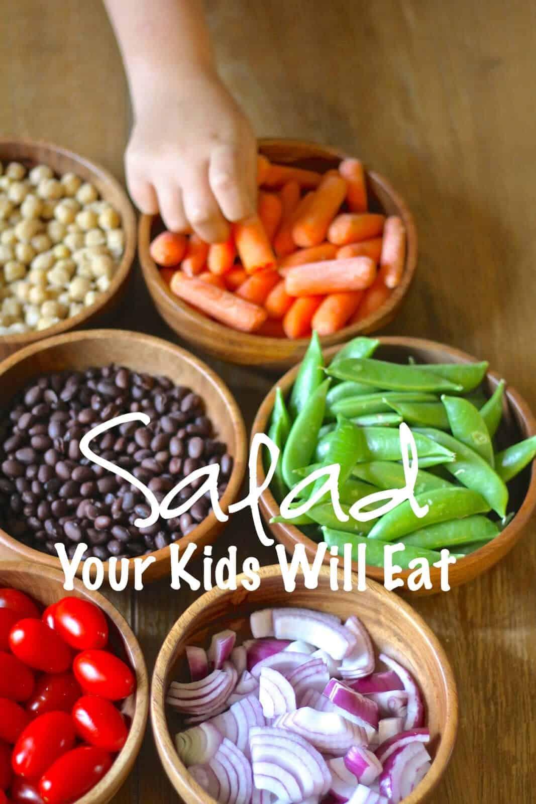 salad, kids