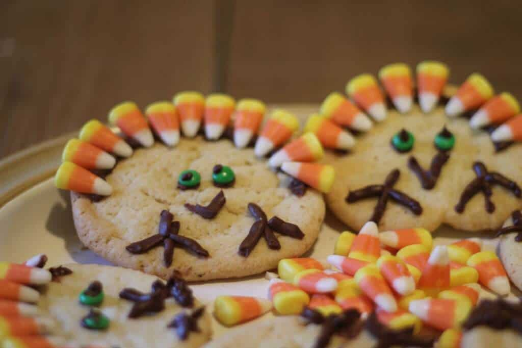 sugar-cookies, Thanksgiving, kids