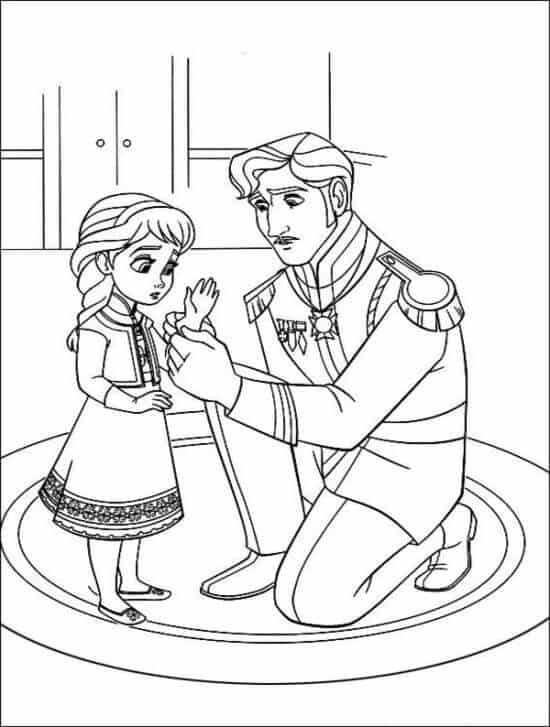 free frozen coloring pages disney picture 4 550x727 - Frozen Coloring Pages Disney