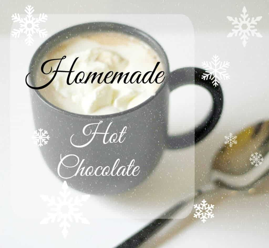how to make homemade hot chocolate with water