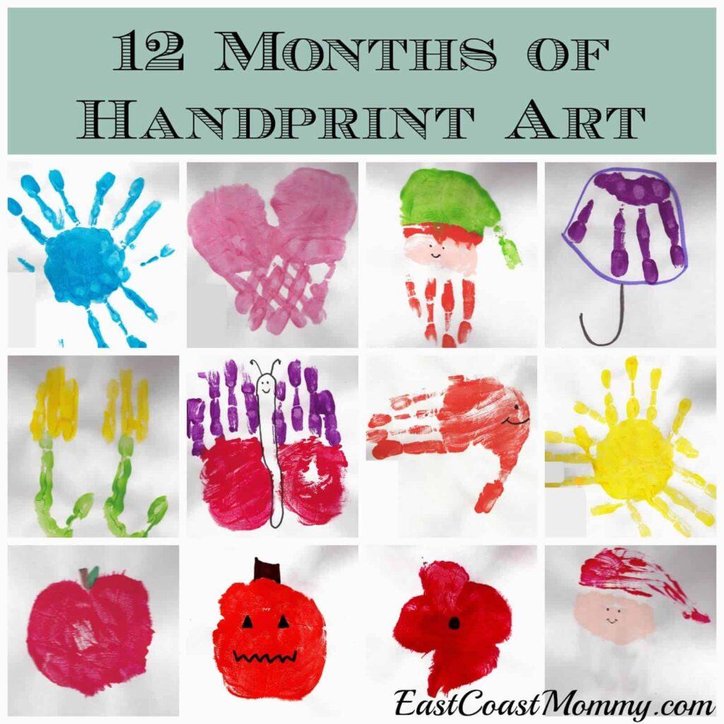 12 month of handprint art