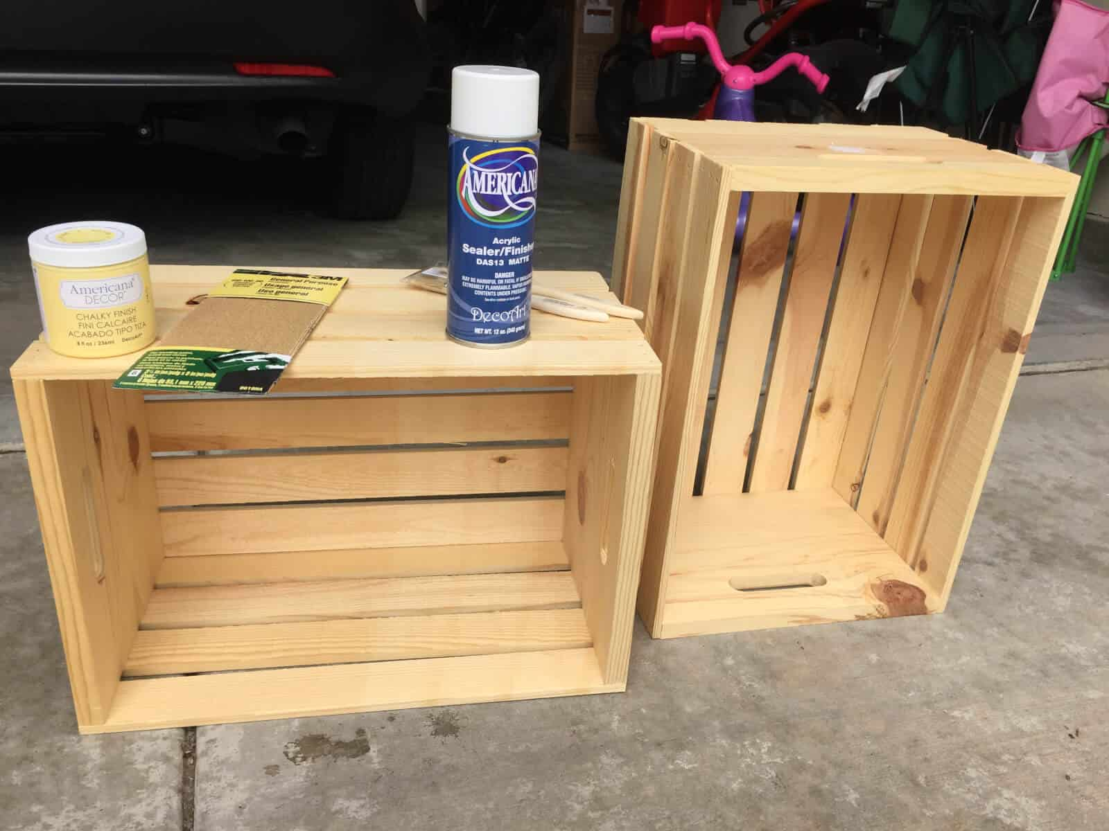 fun functional diy wooden crate bookcase. Black Bedroom Furniture Sets. Home Design Ideas