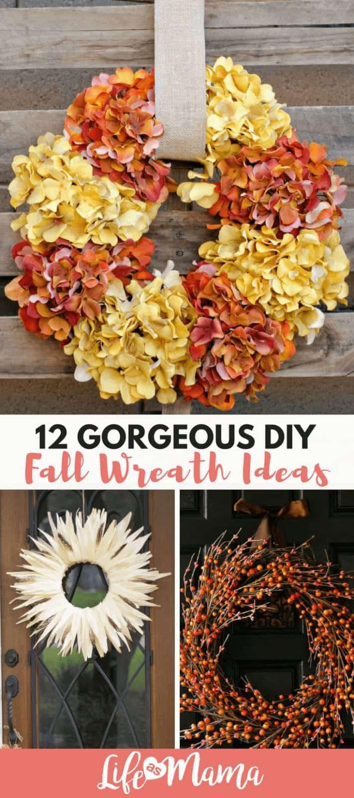 12 Gorgeous DIY Fall Wreath Ideas