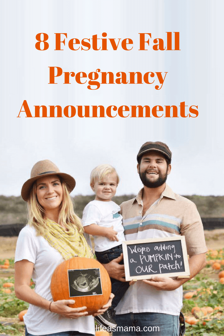 8 Festive Fall Pregnancy Announcements