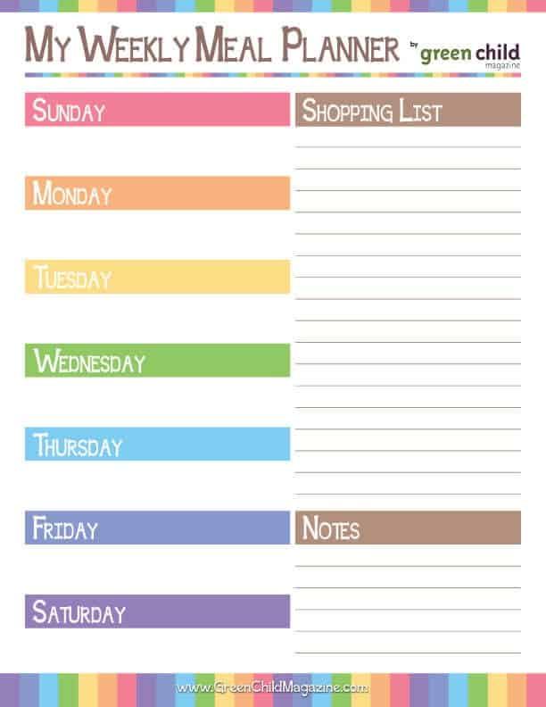 Meal-Planner-Sunday-Week