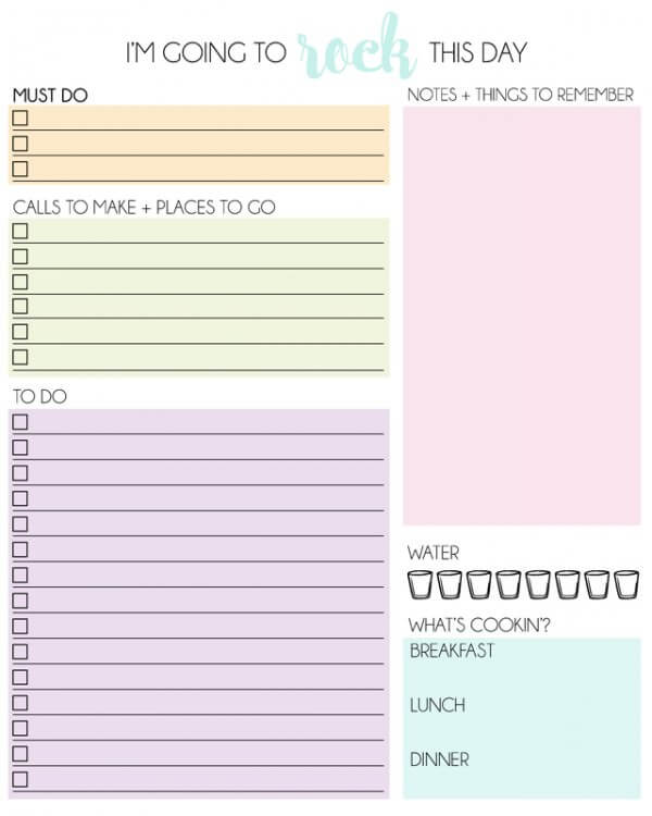 8 amazingly free printable daily planners to keep you for To do planner online