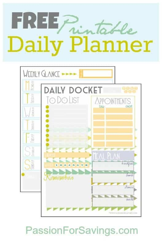 8 Amazingly Free Printable Daily Planners To Keep You Organized – Printable Daily Planner