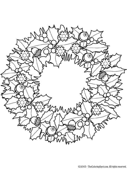 christmas detailed coloring pages | 8 Christmas Coloring Pages For Adults