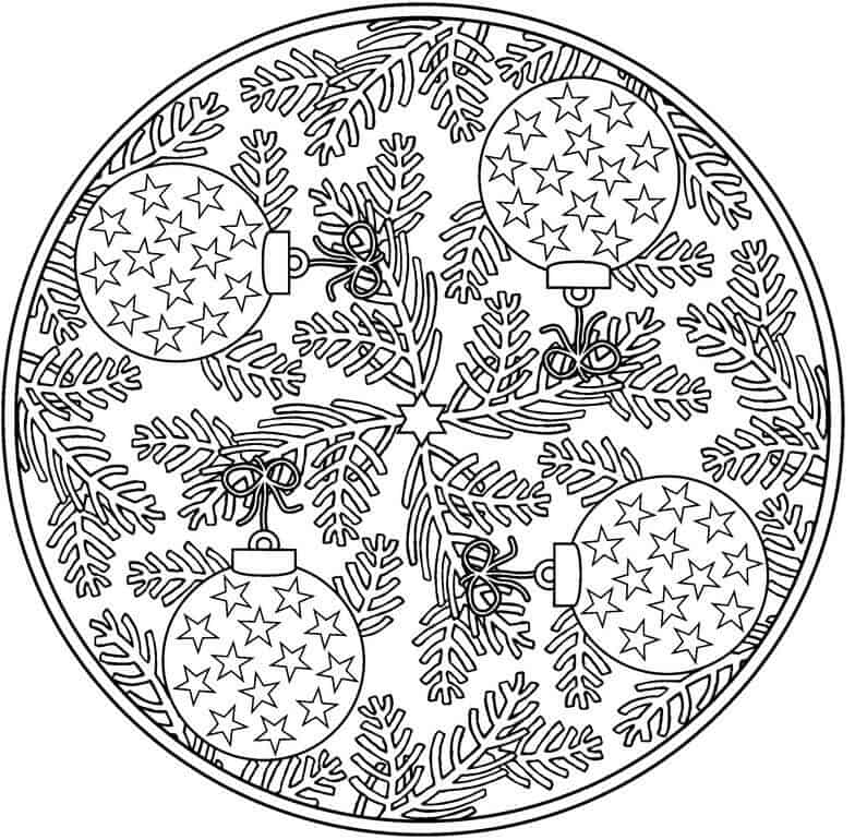 8 Christmas Coloring Pages For Adults