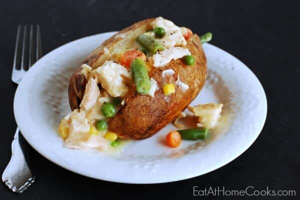 Creamy-Chicken-and-Vegetable-Topped-Baked-Potatoes
