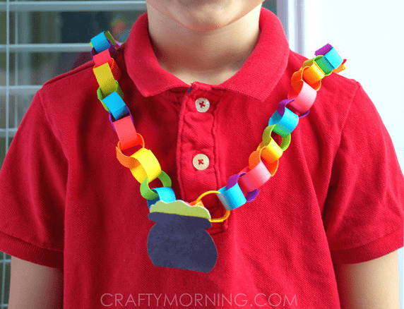 RAINBOW-CHAIN-ST-PATRICKS-NECKLACE-CRAFT