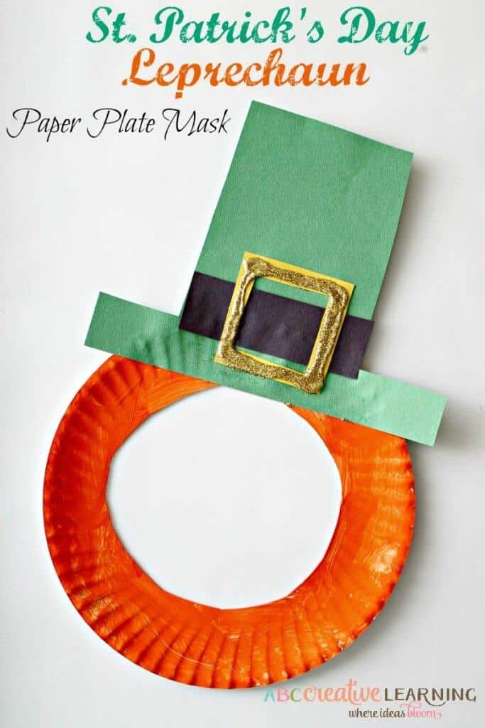 St Patricks Day Crafts Part - 15: St.-Patricks-Day-Leprechaun-Paper-Plate-Mask-Craft