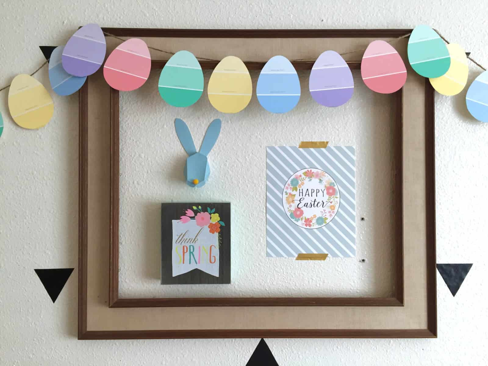 Completely FREE DIY Easter Garland