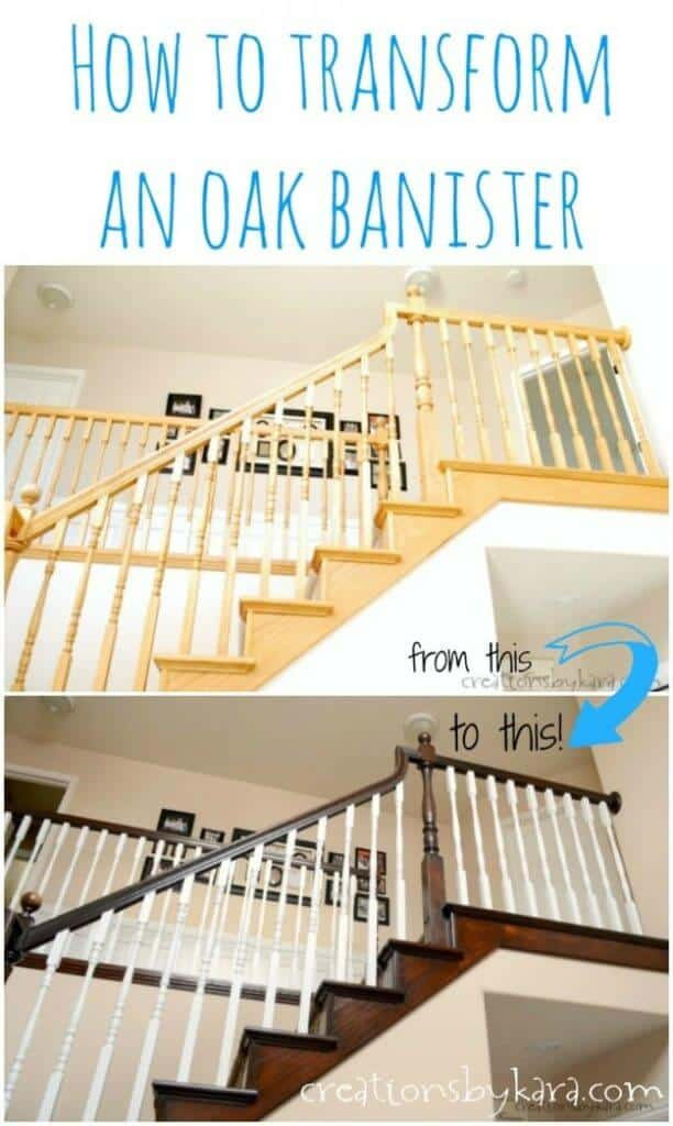 Stained Oak Banister Diy X