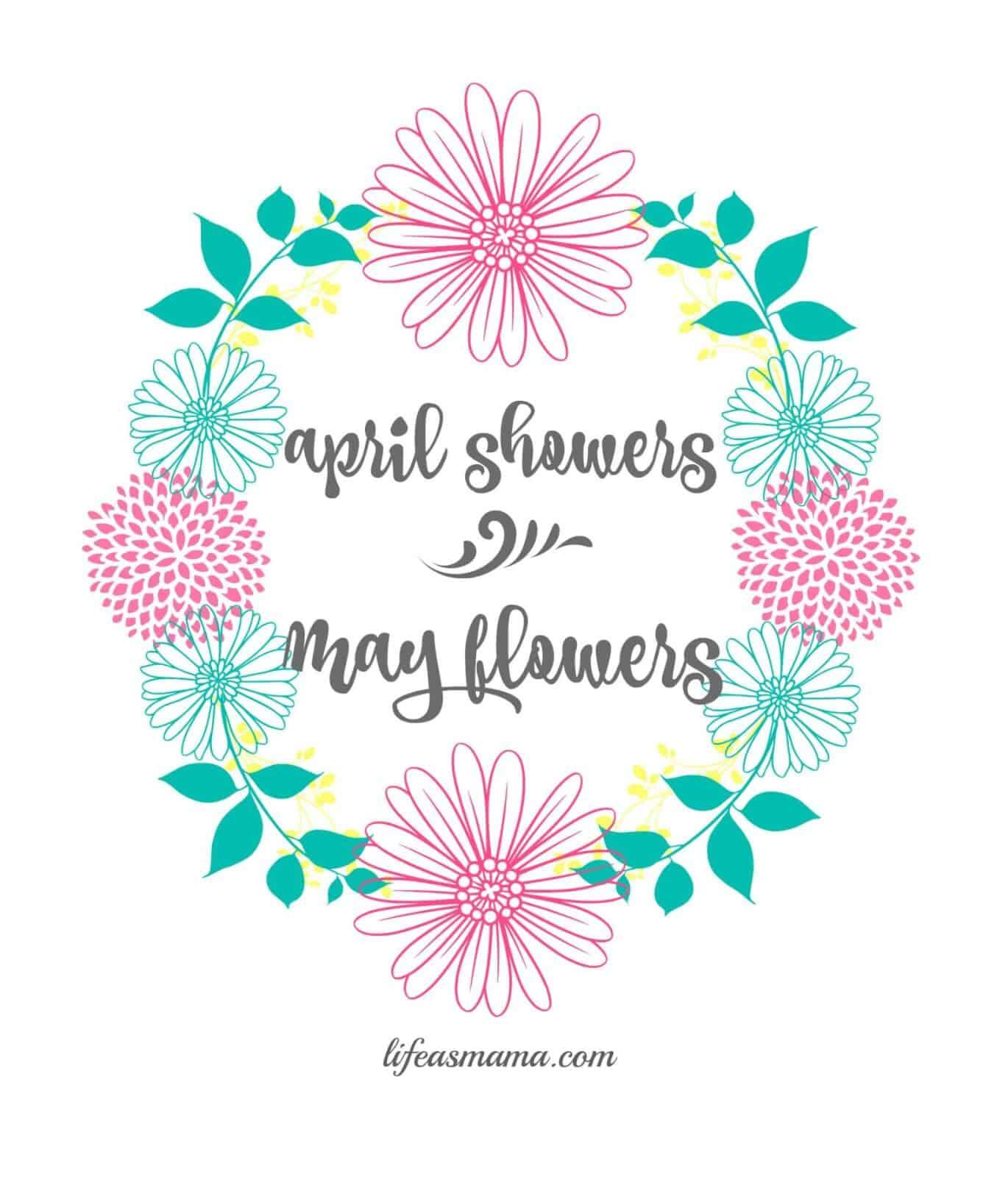 April Showers Spring Printable