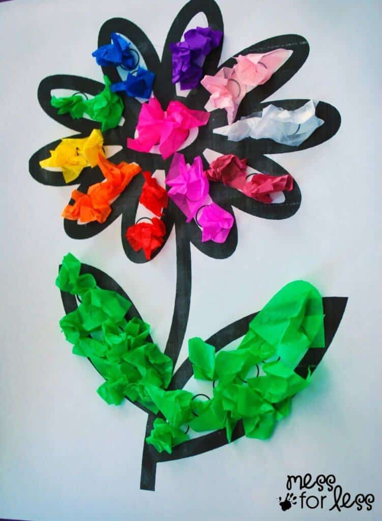 8 terrific tissue paper crafts for kids for Paper art projects