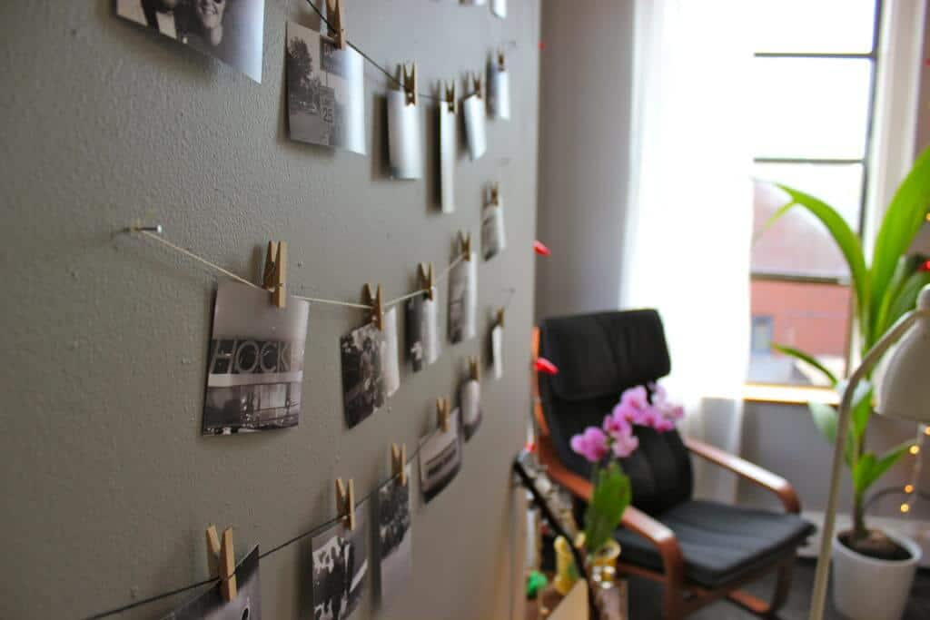 10 Creative Ways To Hang Photos Without Frames