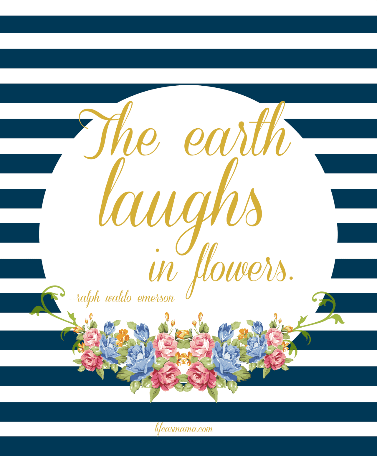 The earth laughs in flowers printable m4hsunfo