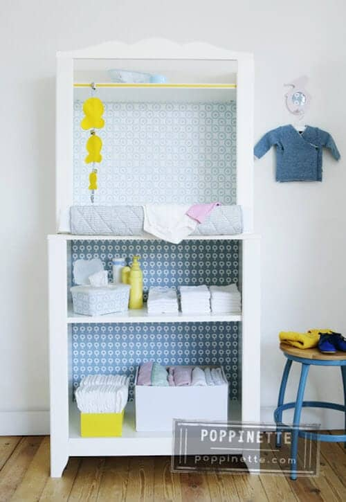 Ikea-changing-table-makeover-by-Poppinette
