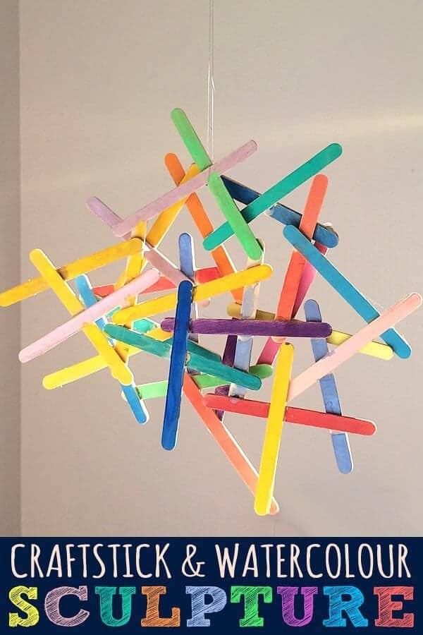 craftstick-and-watercolour-sculpture