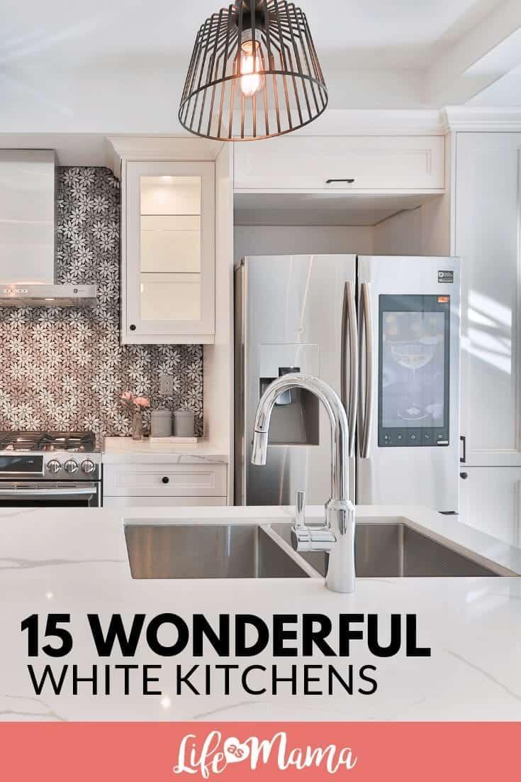 15 Wonderful White Kitchens