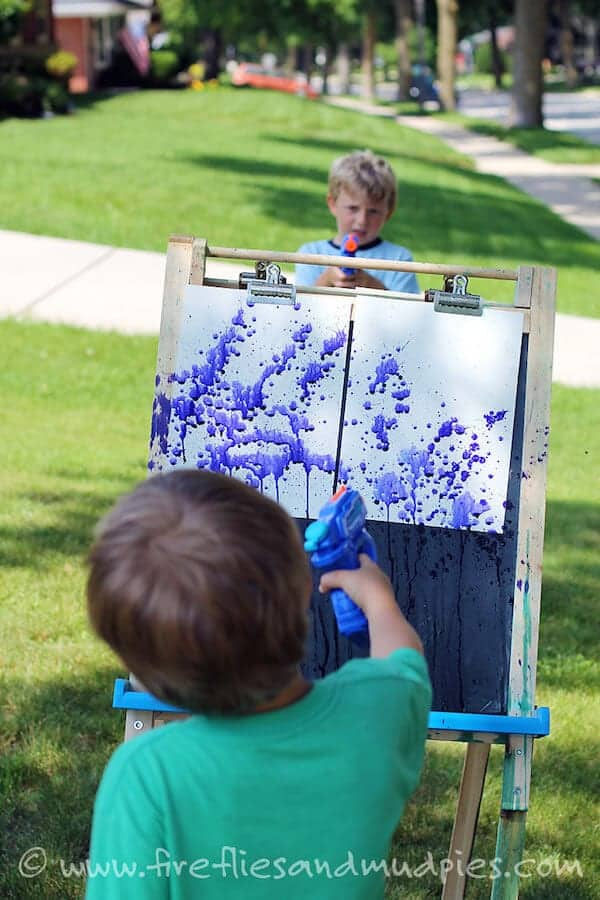 Squirt-Gun-Painting-at-Home-for-Kids