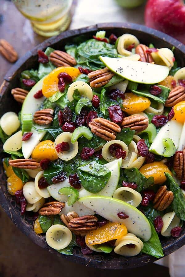 Delicious-Cranberry-Apple-Spinach-Pasta-Salad