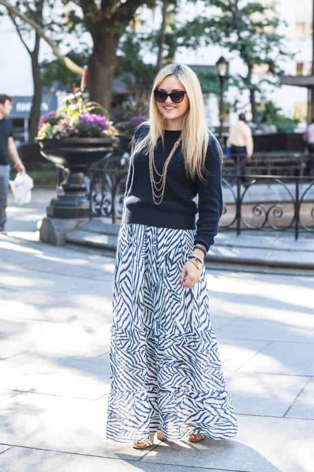 6 ways to wear a maxi skirt for fall