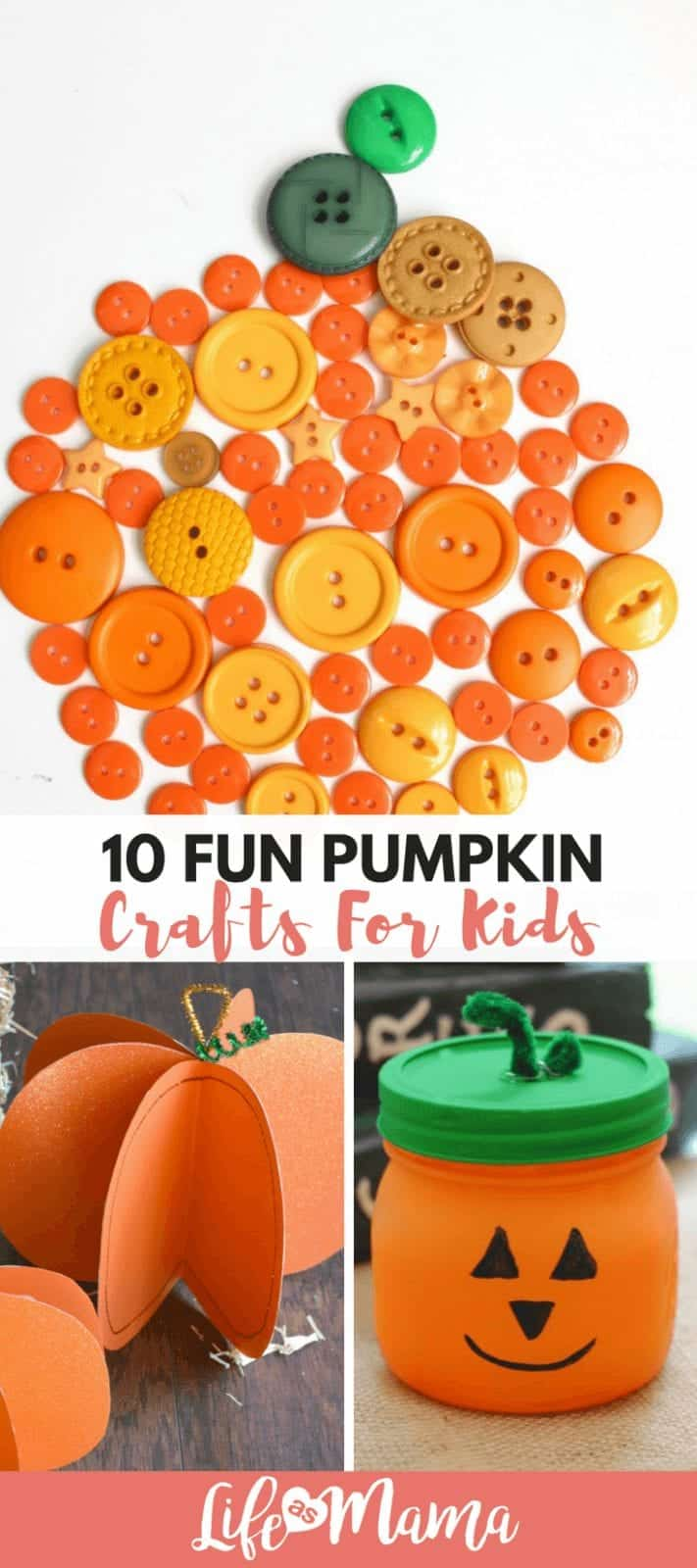 10 Fun Pumpkin Crafts for Kids
