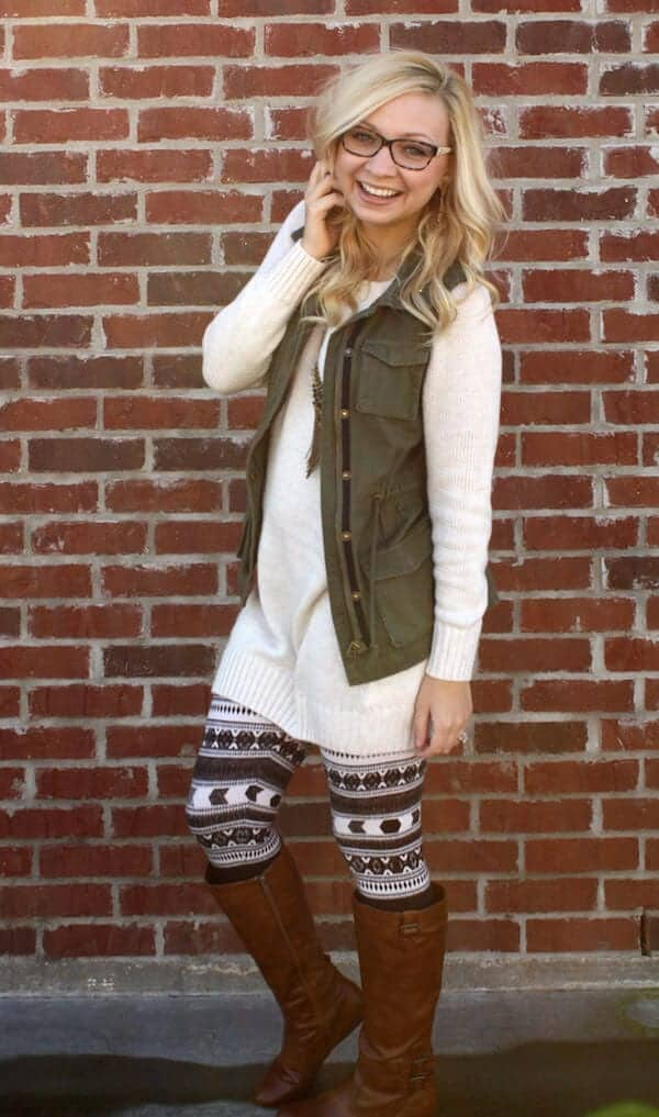 How To Style Patterned Leggings