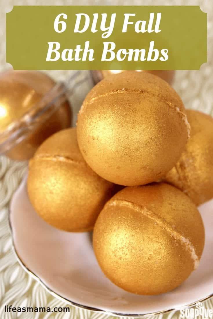 DIY Fall Bath Bombs