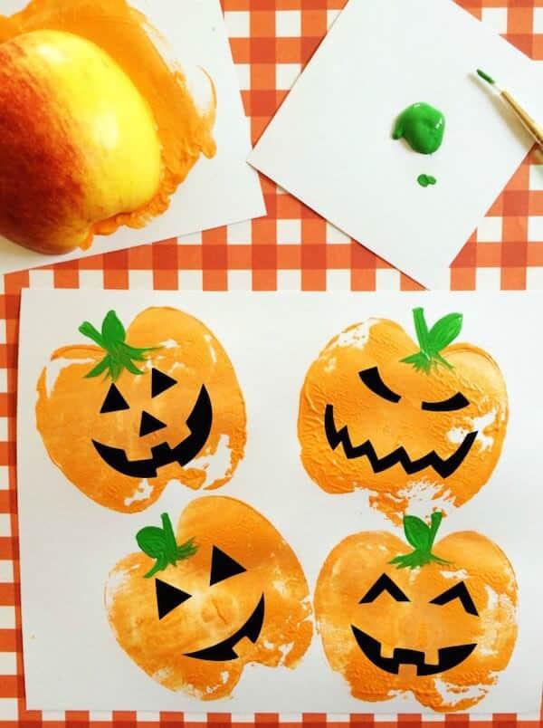 Pumpkin-Apple-Stamps-Craft