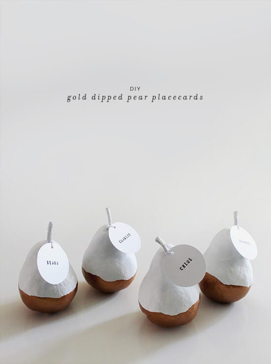 gold-dipped-pear-placecards-diy