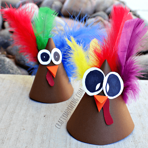 turkey-cone-thanksgiving-craft-for-kids