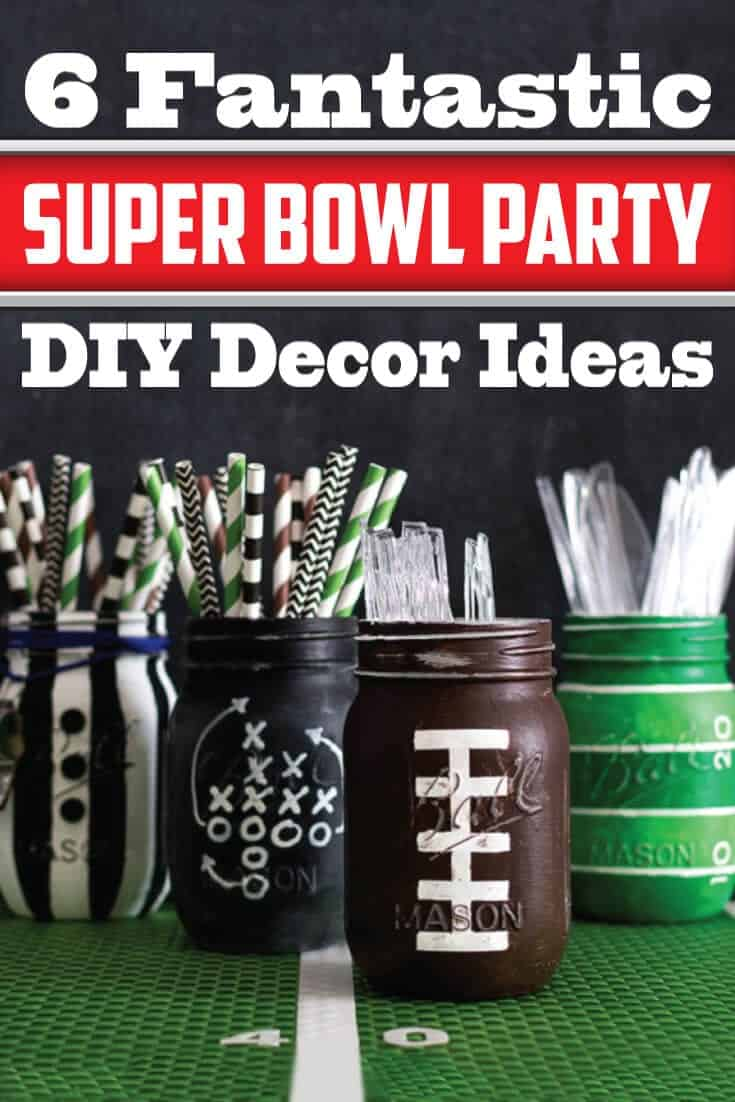 super bowl party DIY decor