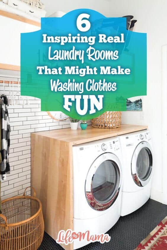 6 Inspiring Real Laundry Rooms That Might Make Washing Clothes Fun