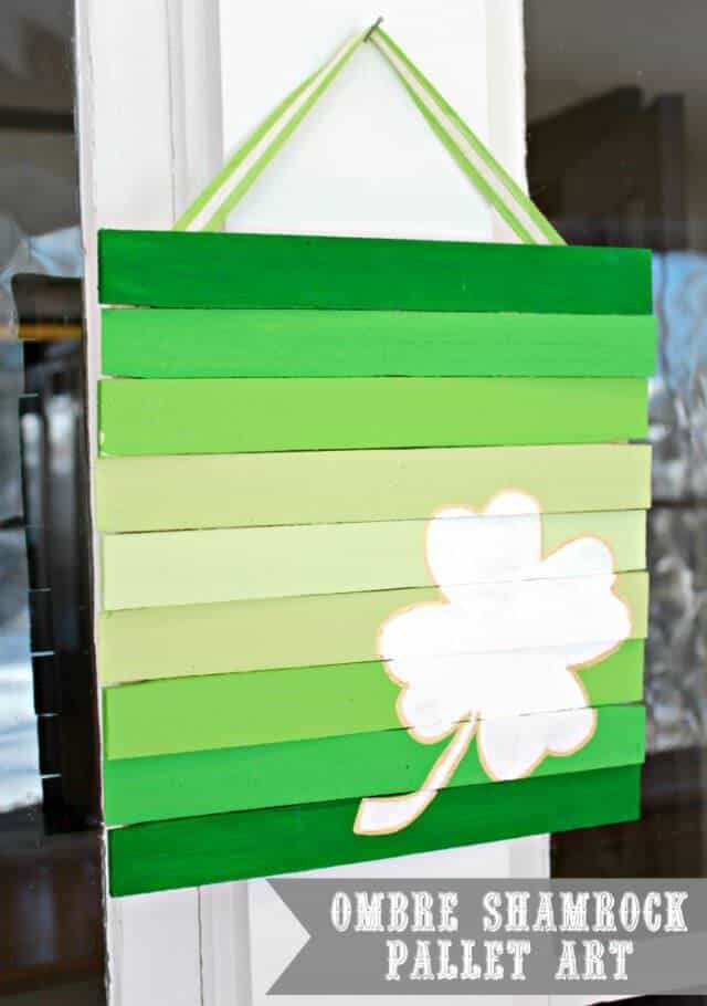 st. patrick's day pallet art