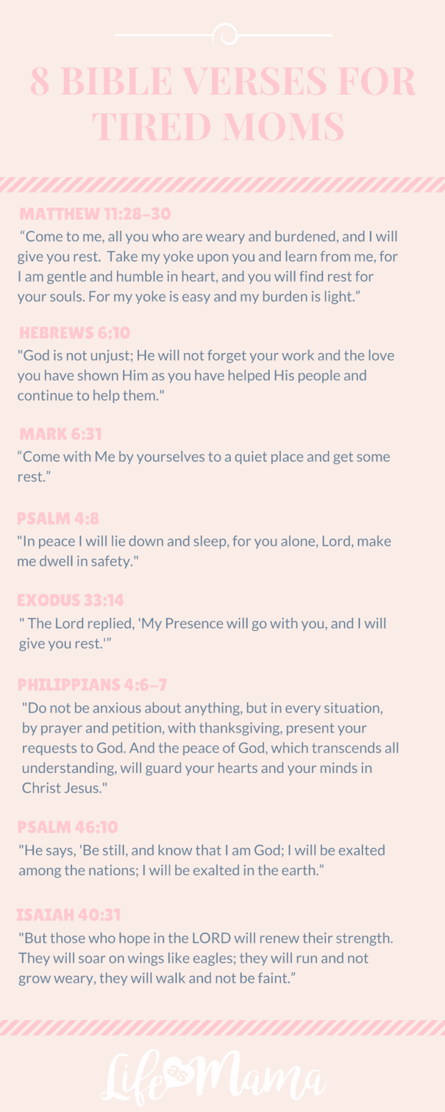 8 Bible Verses For Tired Moms