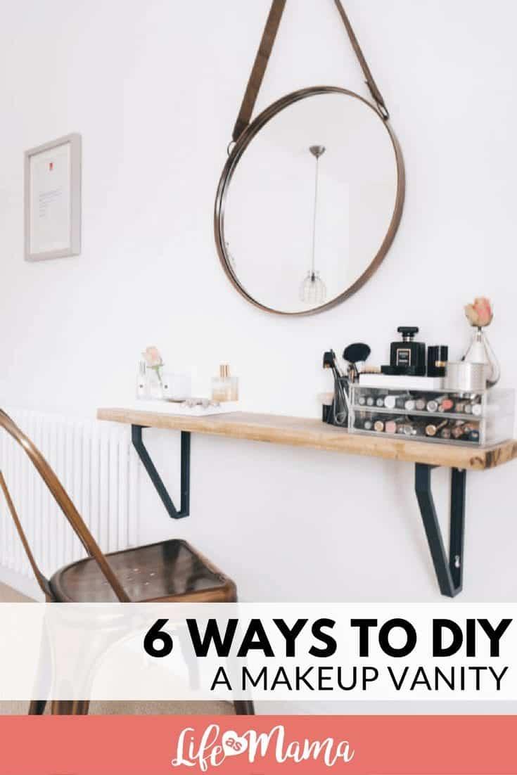 6 Ways To Diy A Makeup Vanity