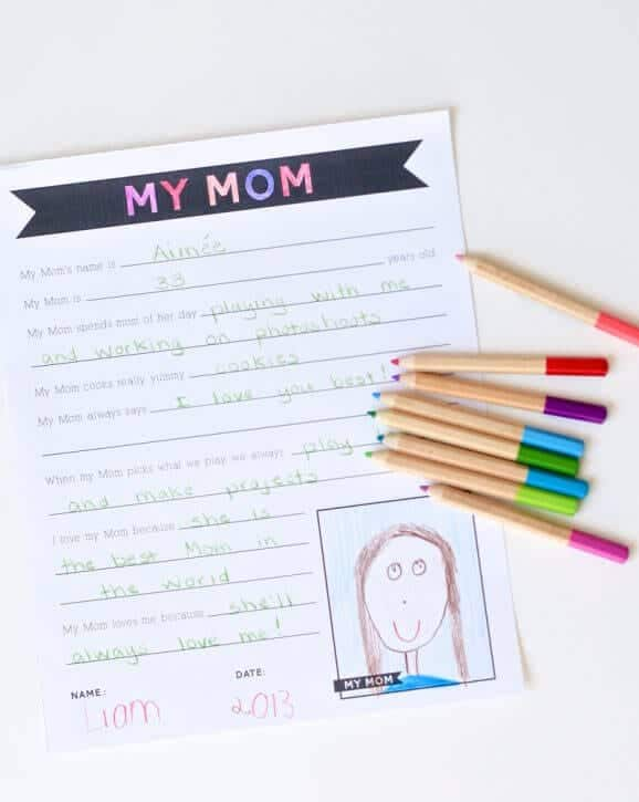 Mothers Day worksheet printable