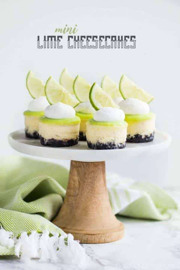 mini lime cheesecake
