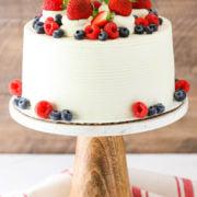 summer berry mascarpone layer cake