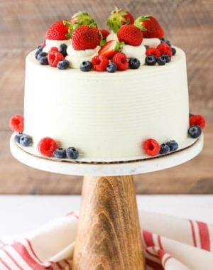 summer berry mascarpone layer cake