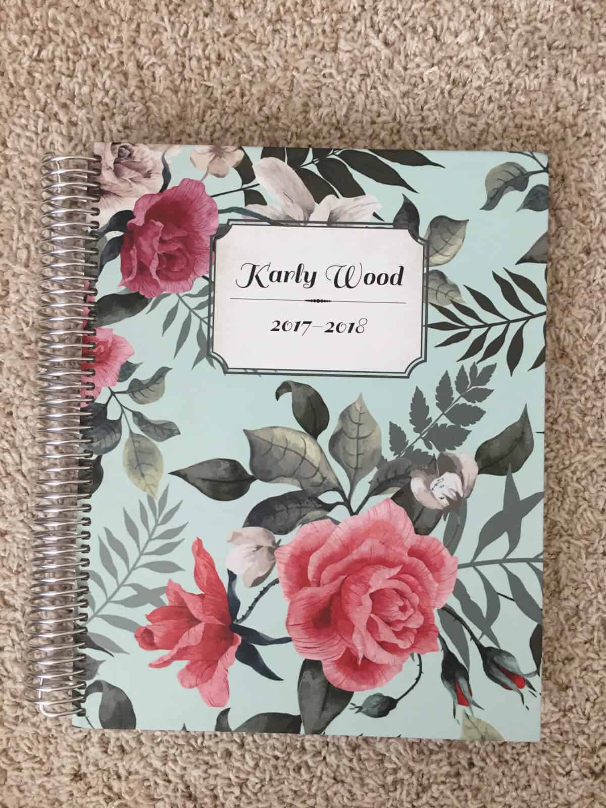 Staying Organized As A Work From Home Mom- Purple Trail Planner Review