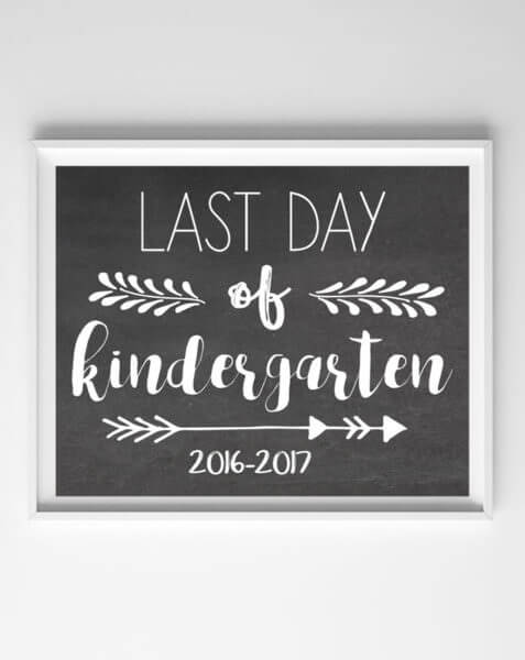 last day of school photo printables