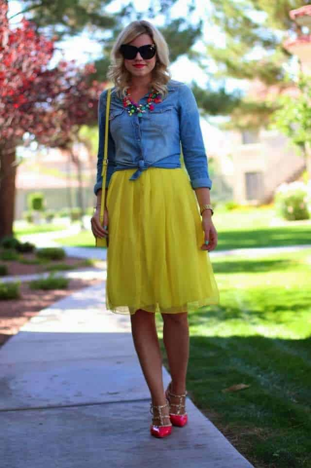 yellow & denim