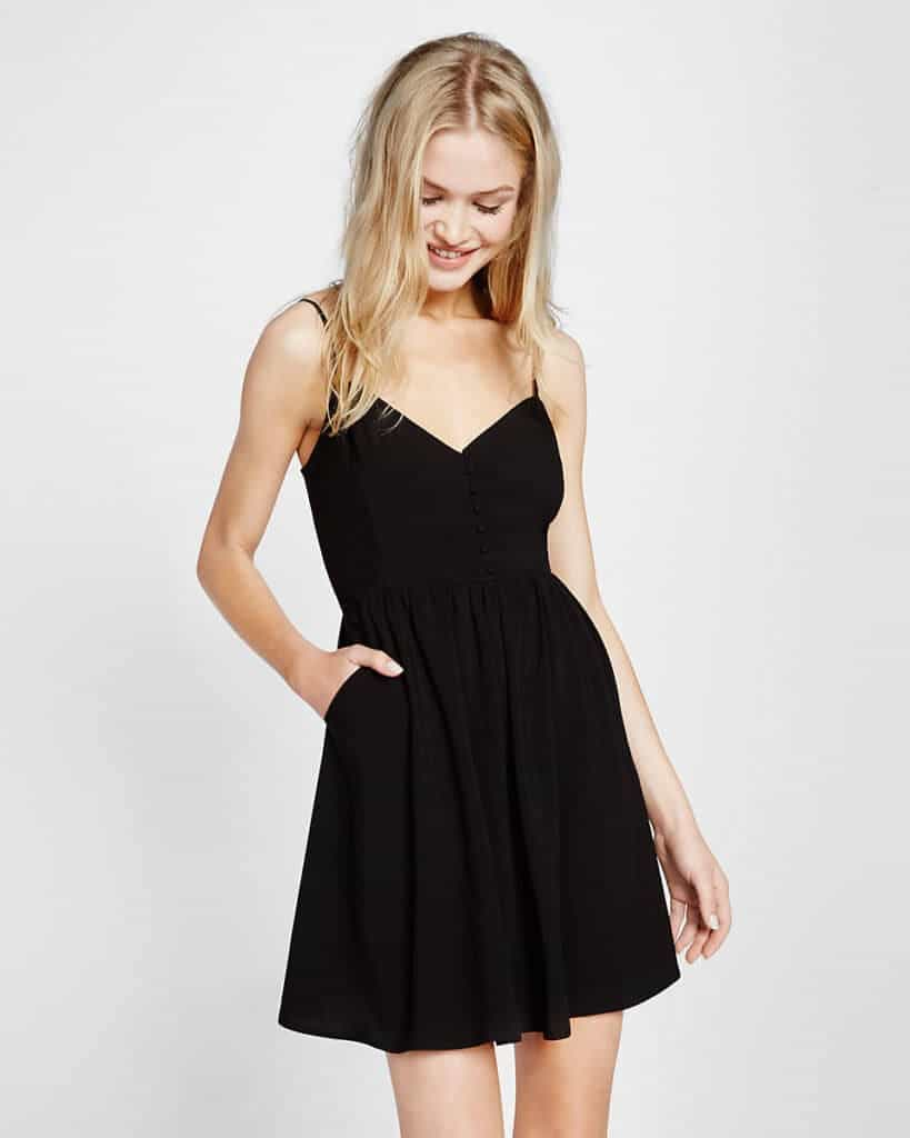 Black Express dress catalog photo