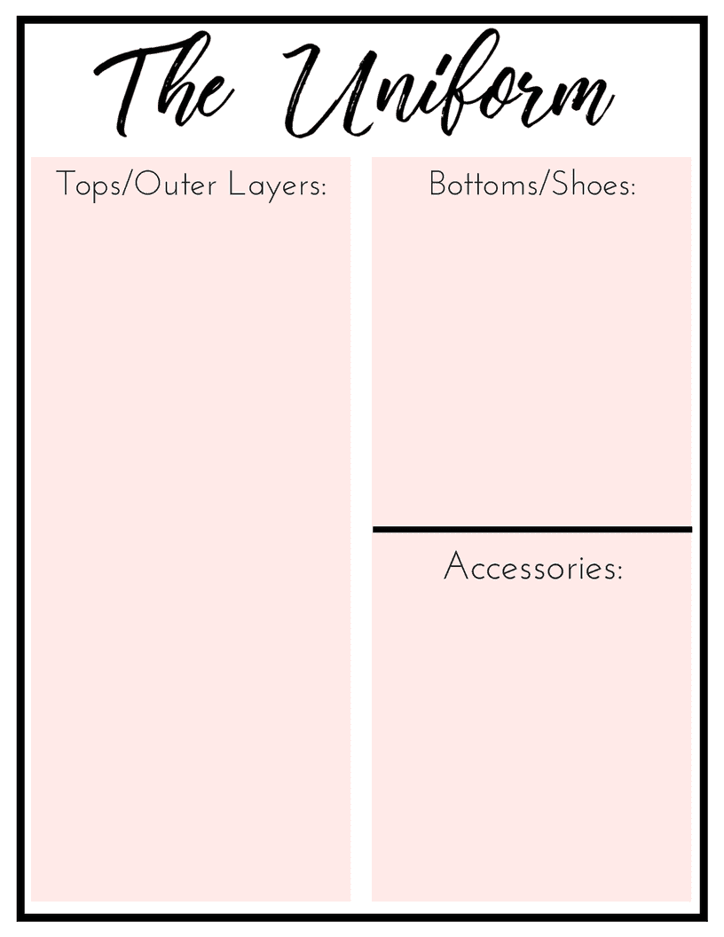 The Everyday Wardrobe Checklist: A Free Printable!