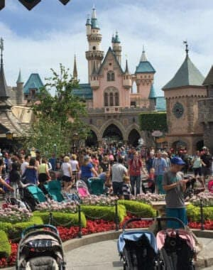 disneyland resort on a crowded day